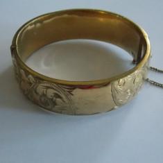 Bratara de aur de 9k cu interior de bronz - Bratara placate cu aur