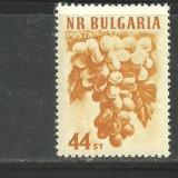 BULGARIA 1956 - FRUCTE, STRUGURI, timbru nestampilat A136 - Timbre straine