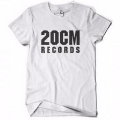 Tricou 20 CM RECORDS PARAZITII 20CM rap hip hop pe spate Parazitii - Tricou barbati, Marime: L, Culoare: Alb