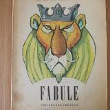 FABULE- LA FONTAINE- cartonata-contine ilustratii de E.Taru