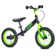Bicicleta fara pedale Flash Green Toyz - Bicicleta copii Toyz, 12 inch