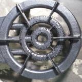 Pirostrie fonta cu 3 focuri , arzator rotund GPL cu 3 duze