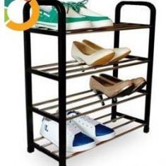 Pantofar cu 4 rafturi din bare metalice - Pantofar hol