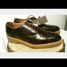 Pantofi de dama NOI, din piele naturala, marca Genuine Leather by H&M - Pantof dama H&m, Marime: 40.5, Culoare: Burgundy