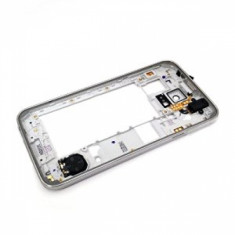 Rama carcasa mijloc Samsung S5 G900F argintie sh
