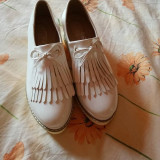 Pantofi - Pantof dama, Marime: 35, Culoare: Alb