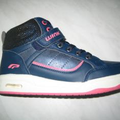 Pantofi sport fetite WINK;cod HE6377-1;marime:31-35 - Adidasi copii Wink, Marime: 32, 34, Culoare: Albastru, Fete, Piele sintetica