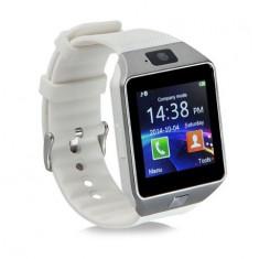 SMARTWATCH BLUETOOTH DZ09 MTK COMPATIBIL SIM SI MICROSD CU CAMERA ALB - Pebble Smartwatch