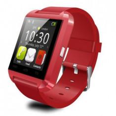 SMARTWATCH U-WATCH BLUETOOTH U8 ROSU ORIGINAL MODEL NOU - Pebble Smartwatch