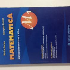 Manual Matematică clasa a XII-a M1 - Manual scolar Altele, Clasa 12