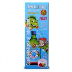 Moller's cod liver oil - nou, sticla sigilata, aroma tutti frutti, cub cadou