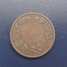 B.104 - ROMANIA - 5 BANI 1867 HEATON - - Moneda Romania