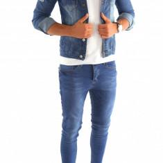 Geaca de blugi tip ZARA - geaca slim fit - geaca fashion - COLECTIE NOUA 7002 - Geaca barbati, Marime: S, M, L, XL, Culoare: Din imagine