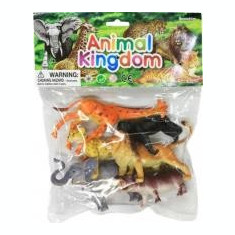 SET 6 ANIMALE SALBATICE 15 CM - MAXITOYS - Figurina Animale