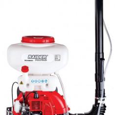 Motopompa pentru stropit culturi lichid sau praf 20 L motor pe benzina Raider Power Tools RD-KMD01