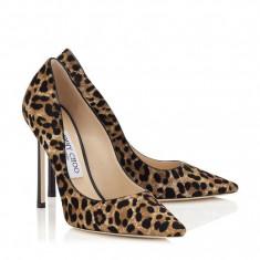 Pantofi Jimmy Choo Romy 110 Leopard - Pantof dama Jimmy Choo, Marime: Alta, Culoare: Din imagine