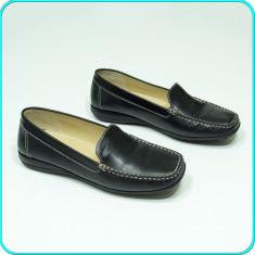 DE FIRMA _ Mocasini / pantofi dama, DIN PIELE, calitate GEOX _ femei | nr. 39 - Mocasini dama Geox, Culoare: Negru, Piele naturala
