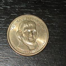 Moneda comemorativa 1 dolar SUA, Jefferson, America de Nord, An: 2000