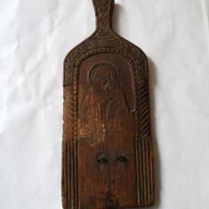 Icoana veche de lemn Maica Domnului cu Isus - Icoana pe lemn