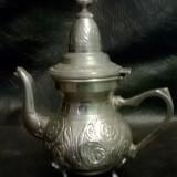 Ceainic vintage handmade Marquee Deposee, metal masiv - Metal/Fonta