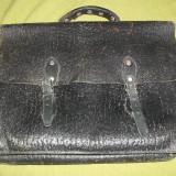 Geanta/ servieta neagra RPR anii '60 - Geanta vintage