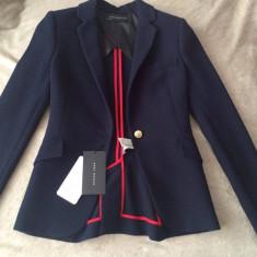Sacou Zara Nou - Sacou dama Zara, Marime: 34, Culoare: Bleumarin
