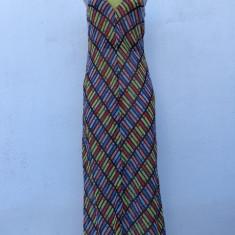 Rochie din matase Philosophy di Alberta Ferretti originala - Rochie de zi Alberta Ferretti, Marime: M, Culoare: Multicolor, Maxi, Fara maneca