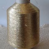 Fire tricotat crosetat lurex auriu